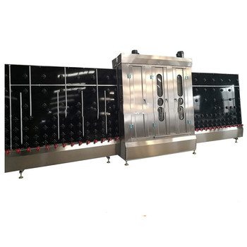 Flat vertical glass washing drying machine double glass washer