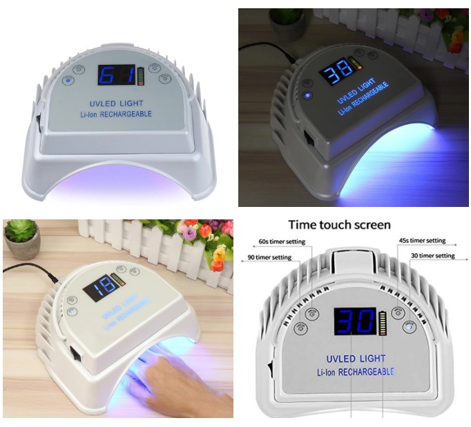 87% US salons order cordless nail gel lamp Wireless UV LED Nail Lamp With Lifting Handle Touch Sensor LCD Screen for Gels Nail