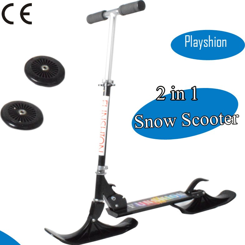 2016 winter sports snow ski scooter 2 in 1 kids snow scooter for sale