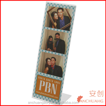 Acrylic Photo Booth Frames,Slanted For 2x6 Picture Strips - Buy ...