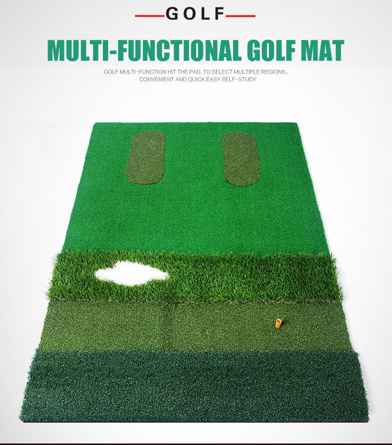 multi-functional golf practice mat hitting pad