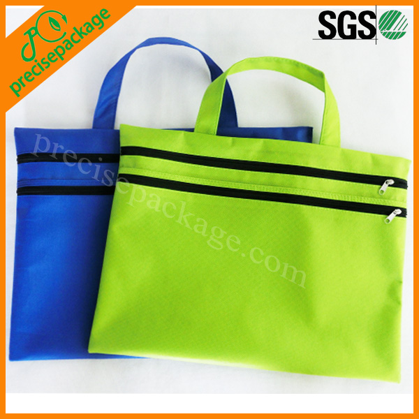 Cheap custom nonwoven document bag with zipper