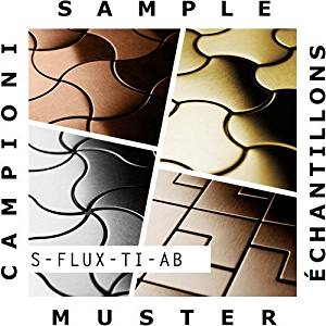 SAMPLE Mosaic S-Flux-Ti-AB | Collection Flux Titanium Amber brushed