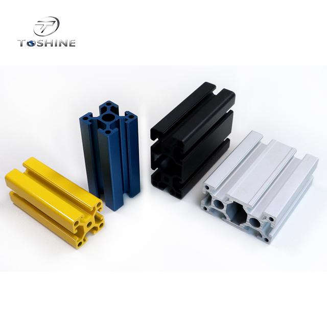 2020 3030 4040 5050 8080 anodize T slot extruded aluminum alloy frame profile Aluminum extrusion industrial profile