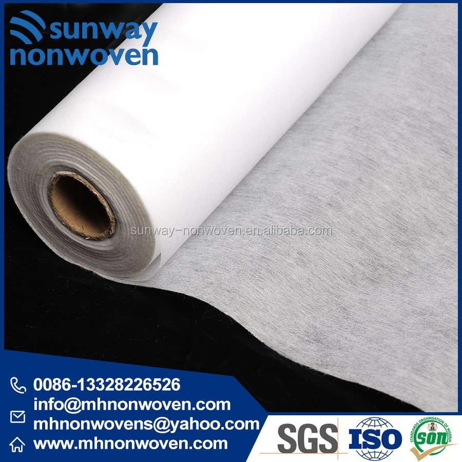 100% Polyester Nonwoven Fusing Paper for Garment Embroidery