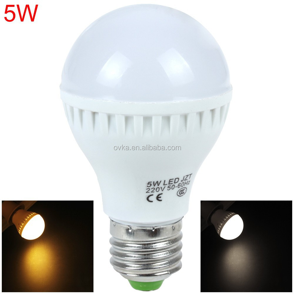 Factory price 5W led light bulb CE ROHS SMD 2835 E27 led bulb 220V for home/office use