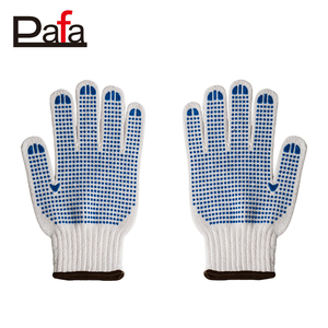 Special design 7G white cotton knitted work hand gloves wholesale
