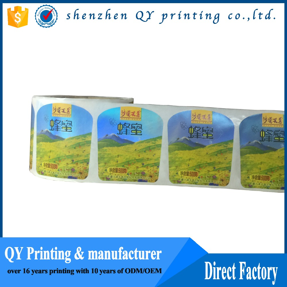 Art Paper/PP/Custom Multi-Color Roll Printing Label Die Cut Printing Label for Packaging