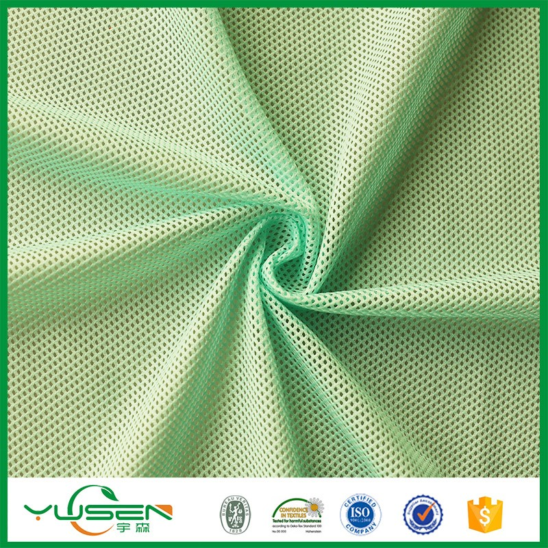 light weight Knitted 100% polyester mesh fabric used sportswear sportswear