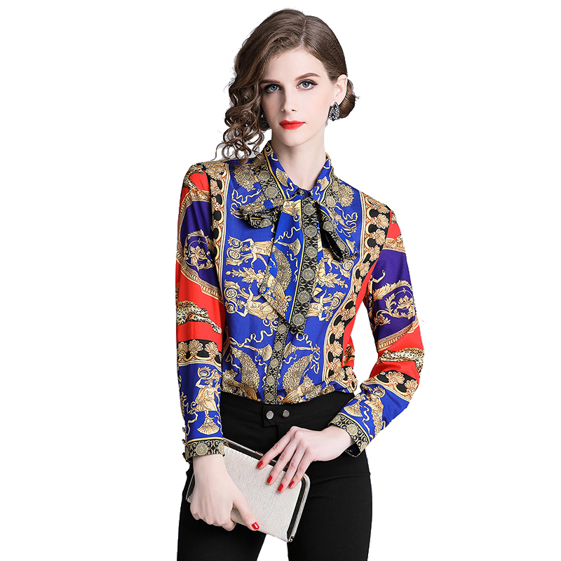 Alibaba.com / Wholesale New Fashion Ladies Blouses Slim Women Flower Printed Blouse Office Work Wear Shirts Women Blusas