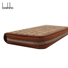 Boshiho cork woven leather women travel wallet purse