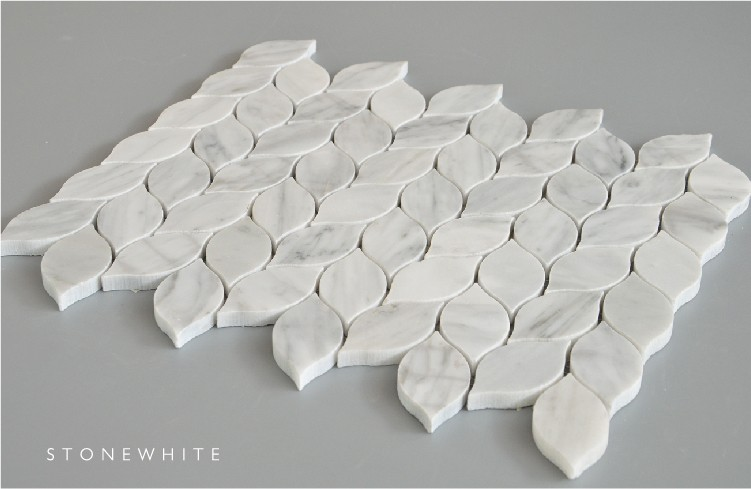 Backsplash Mosaic Tile Leaf Shape Backsplash Mosaic Tile Tile Leaf