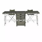 Popular Durable outdoor use army green color military field desk