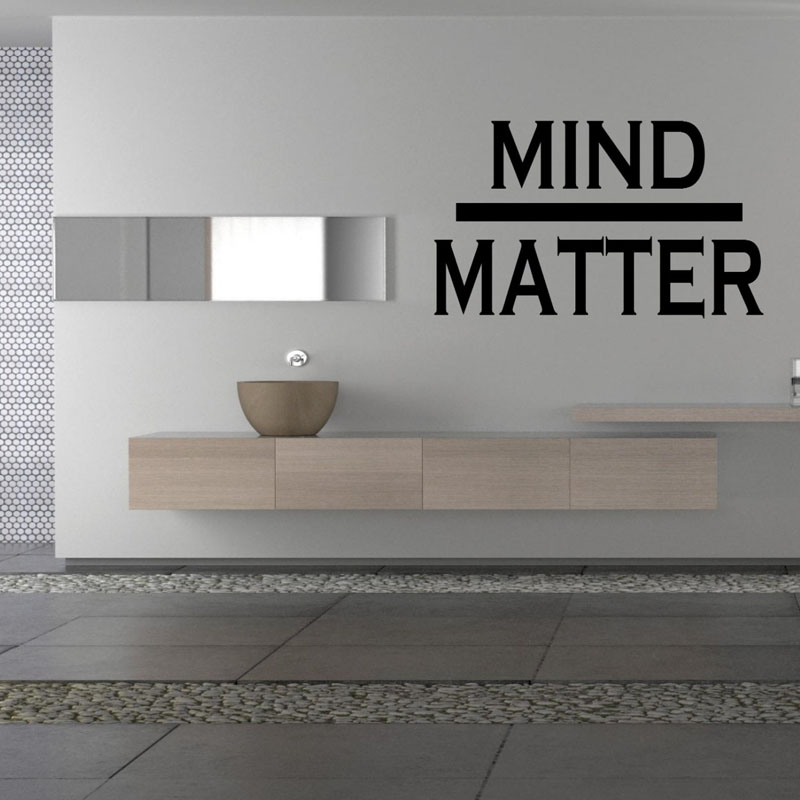 Mind Matter Wall Stickers Home Decor Living Room Creative Wall Decals Simple Design Stickers On Wall