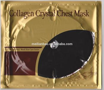 2015 new products non-woven breast mask collagen crystal breast mask