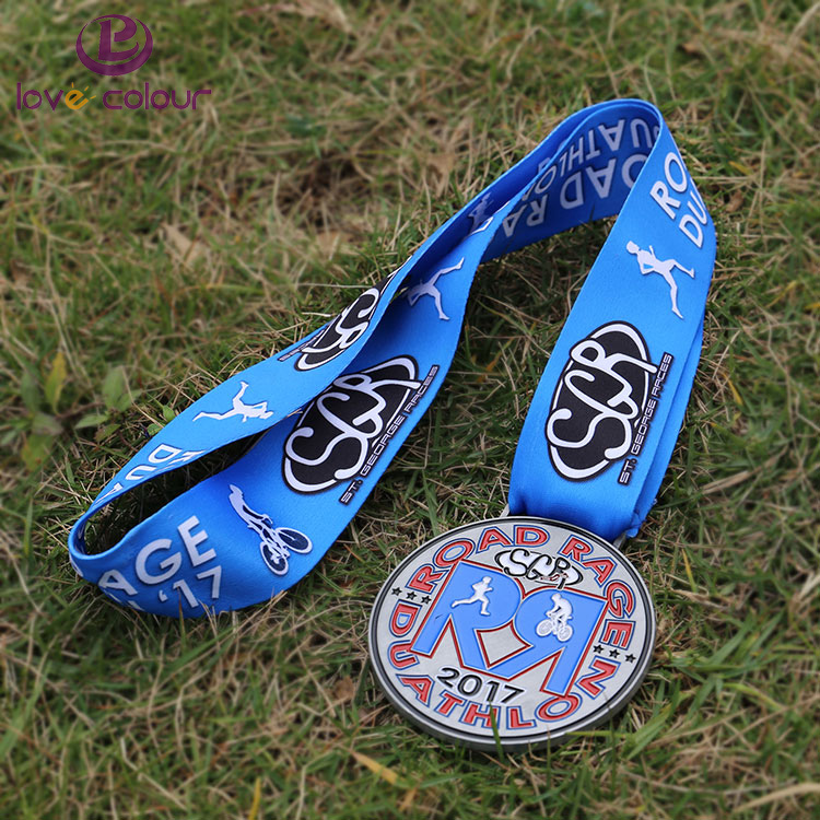 Custom Medal Lanyard Strap Printing Neck Ribbons For Sport Event / Medal Ribbon