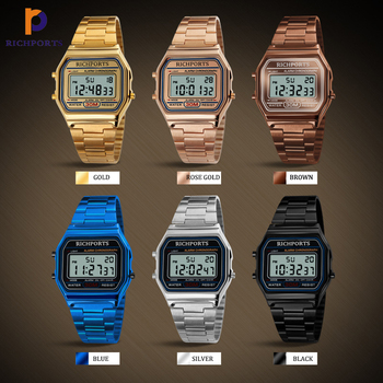 Most Popular Square watch Blue Black LED Sports Watch Digital Wristwatch Quality Chinese Products Richports