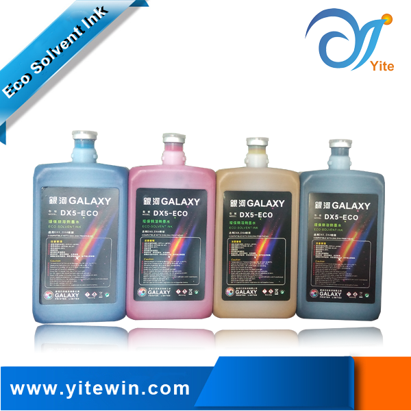 Original Galaxy eco solvent ink for printhead dx4 dx5 dx7