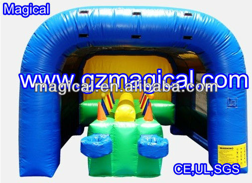 Inflatable floating ball race