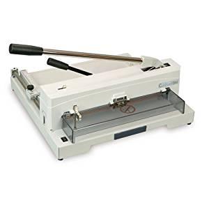 "FORMAX Cut-True 13M Tabletop Manual Guillotine Cutter, Manual lever handle, 14.5"" Maximum Cutting Width, 5/8"" Maximum Paper Stack Height, 1.58"" Narrow Cut, LED Laser Cut Line, Blade Change Handles"