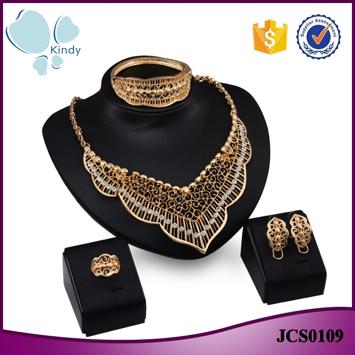 Western Fashion Jewellery Fancy Gold Plated Zinc Alloy Rhinestone