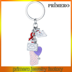 PRIMERO fashion Bags girls bag hanging keychain Creative metal key chain bag hanger keychain