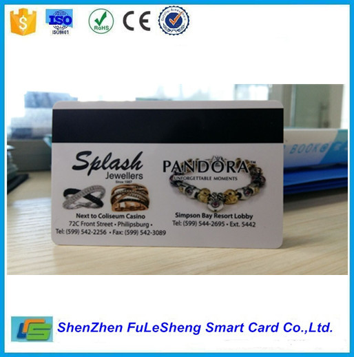 Jewellers quality card Silk screen magnetic stripe card