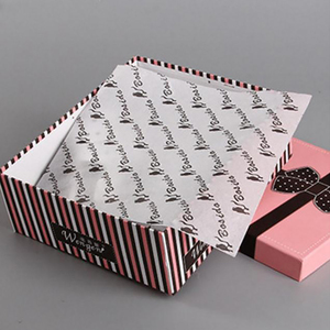 Company logo gold silver foil stamping shirt clothes soft tissue wrapping paper for packaging