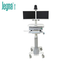 Silent height Adjustable twin monitor stand medical workstation Computer medical Trolley