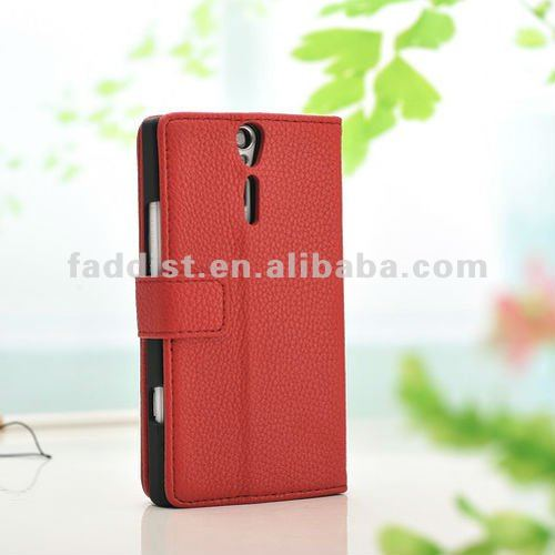 mobile phone case for Sony Xperia S LT26i wallet case lychee pattern