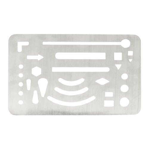 Dimart Silver Tone Multi Shape Drawing Template Tool Metal French Curve Ruler