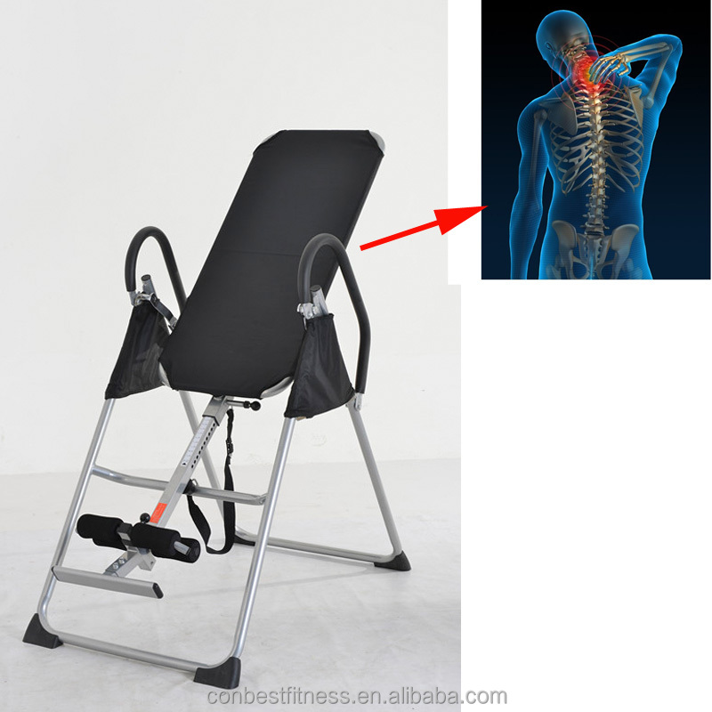 Body Flex Comfortable PU Back Inversion Table Made in China