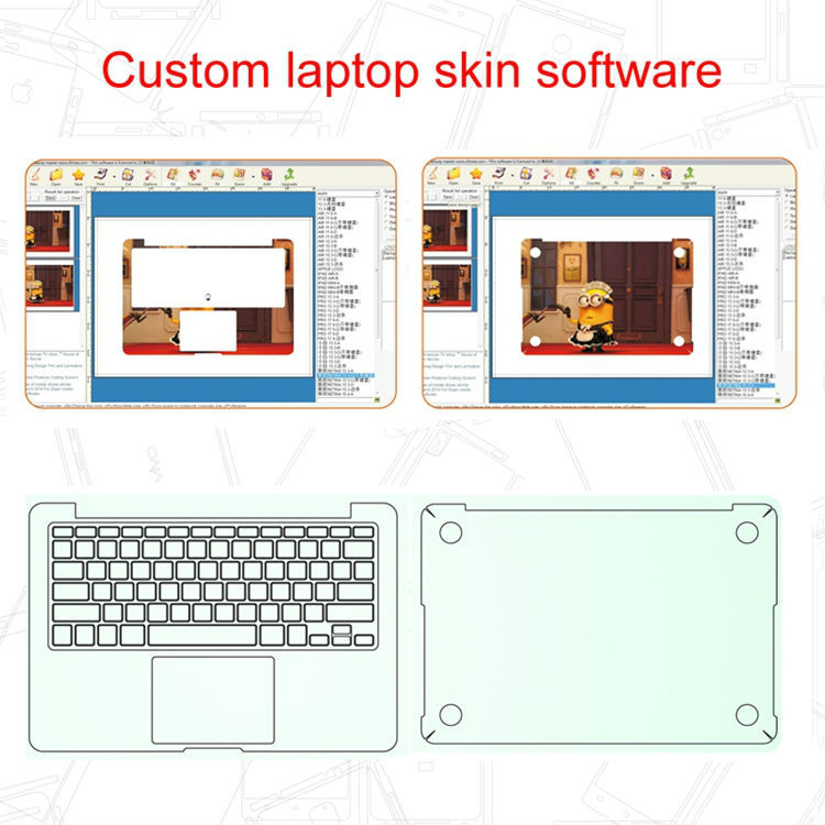 Daqin mobile phone tablet laptop vinyl sticker cutting free software
