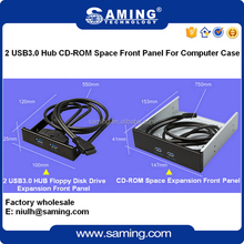 "5.25 "" CD-ROM 2 port USB 3.0 hub Expansion Front Panel For Computer Case"
