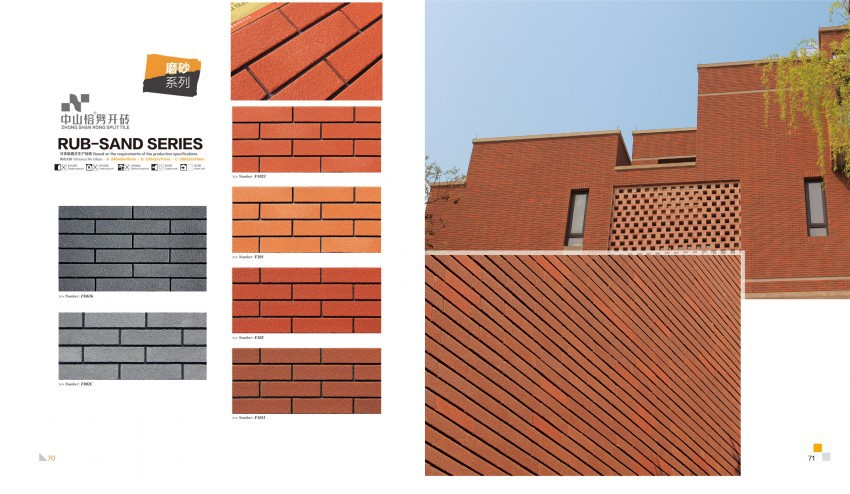 2016 Hot Sale Facade Exterior Wall Clinker Brick Tiles