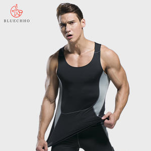 Men Clothing Tank Tops Shirts Fitness & Yoga Wear Quick Dry Fabric Stretch Gym Yoga Sportswear