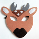Wholesale the cheapest Halloween party deer felt masks on sale