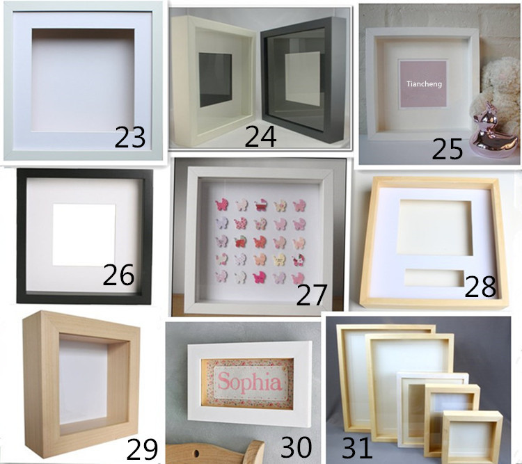 Wall Hanging Wooden Shadow Box Frame,Square Deep Wood Shadow Box ...
