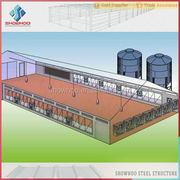 Low Cost Steel Construction Industrial Shed Design Poultry