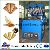 Fast speed sugar cone forming machine,pizza cone making machine,ice cream cone machine price