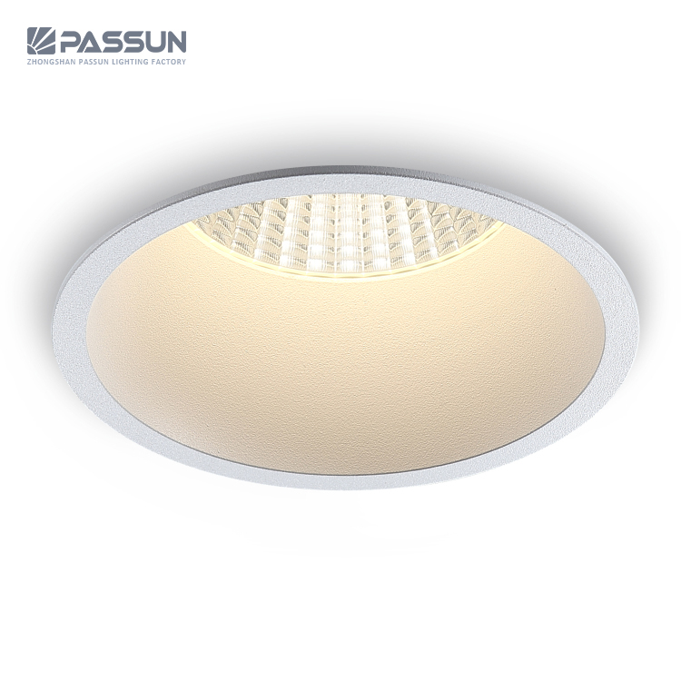 Modern hotel professional anti-glare dimmable round spot light 12w cob ceiling recessed led <strong>spotlight</strong>