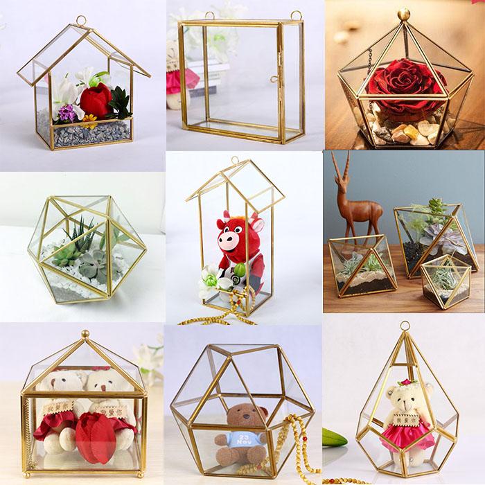 Wholesale Wedding Garden Geometric Vase Cheap Glass Terrarium