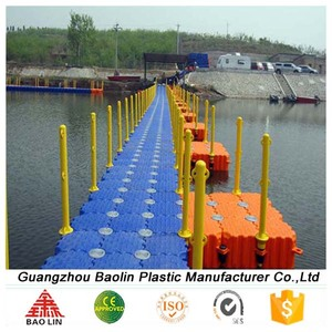 Floating pontoon dock and floating bridge for hot sale