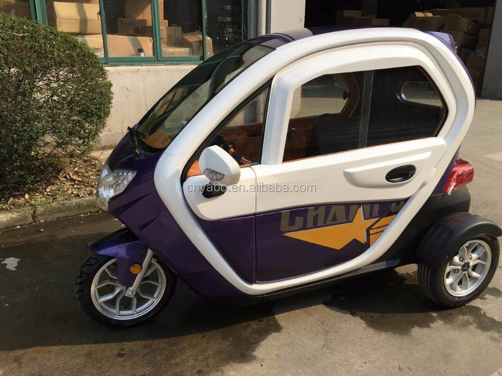 60V 2.2KW 2 seat small cars cheap electric cars three wheel electric car for sale with EEC certification