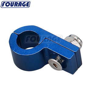 Universal Billet Aluminum Braided PTFE Teflon Oil Fuel Coolant Hose P Type Clamp Clip