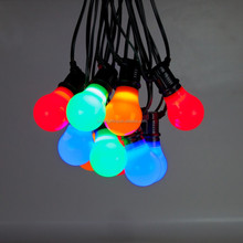 LED muticolor lamp black rubber festoon light string IP65 outdoor hanging available