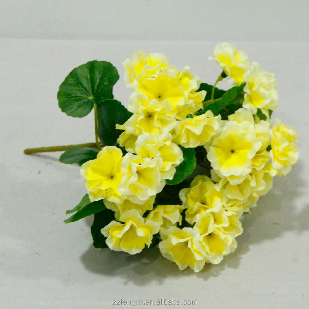 Silk Artificial Begonia Flower Factory Cheap Artificial Flower For