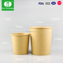 Hot sale French style paper soup cups with paper lids