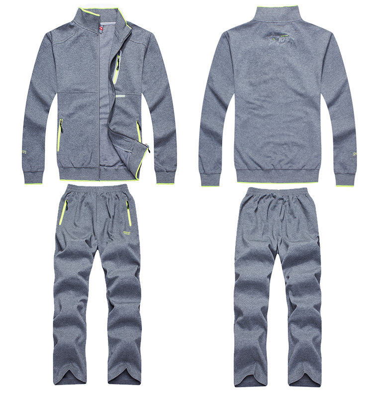 mens tracksuit set men sweatshirt suit outdoor sport baseball jogging clothes