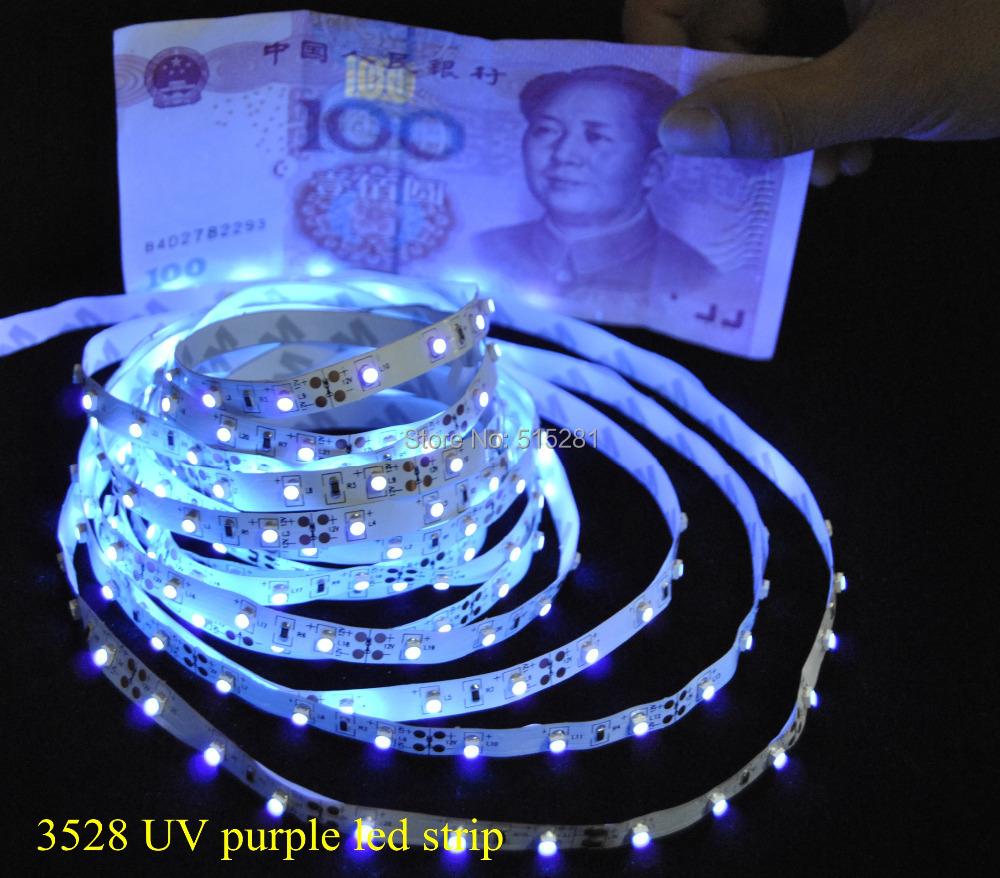 new arrival super brightness uv ultraviolet led strip light dc12v 3528 60leds m purple. Black Bedroom Furniture Sets. Home Design Ideas